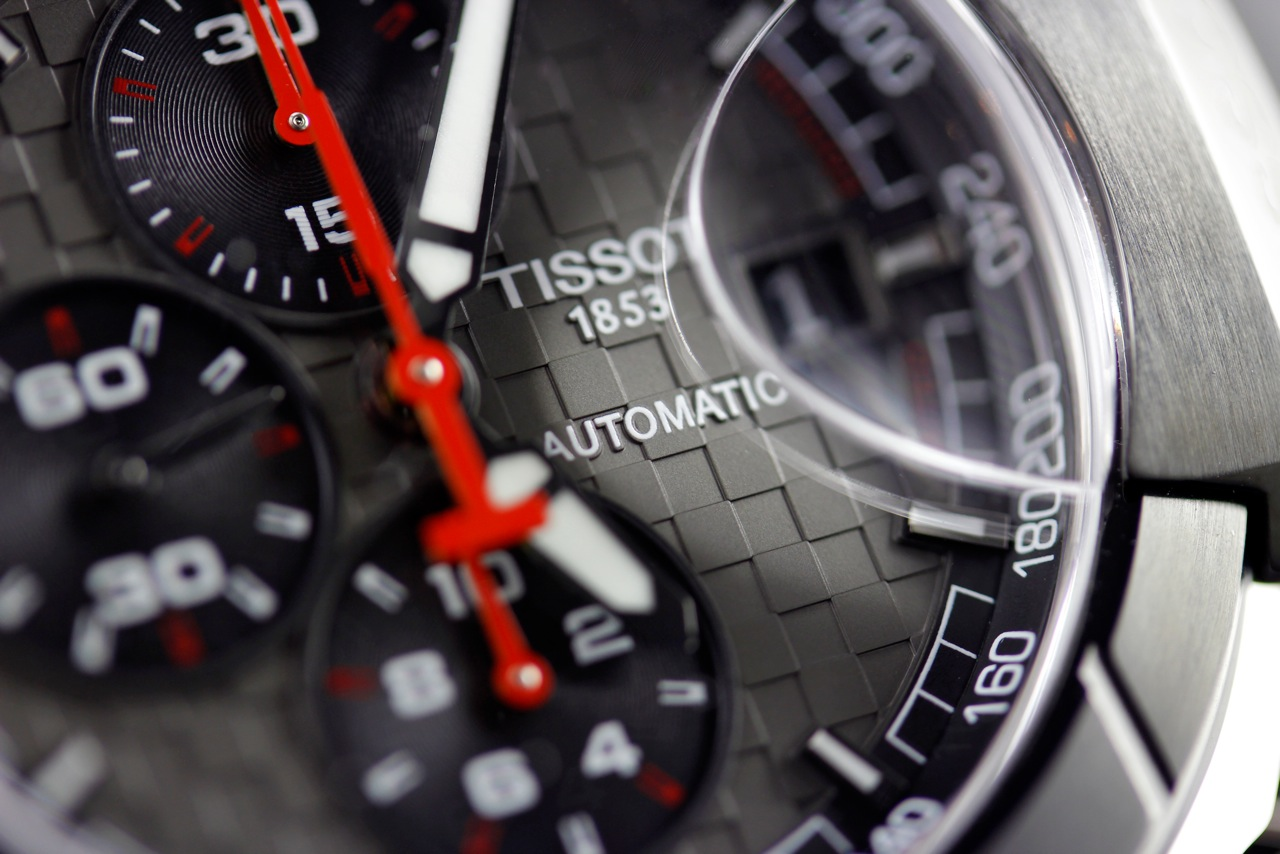Tissot MotoGP Watch Dial close