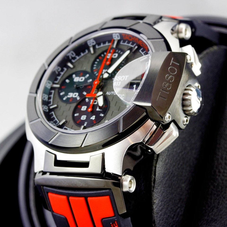 Tissot MotoGP Watch Face Side With Crown Close
