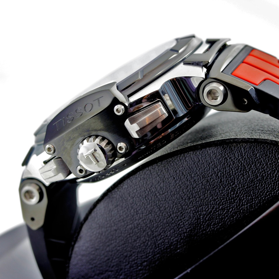 Tissot MotoGP Watch Side Chrono Buttons and Crown