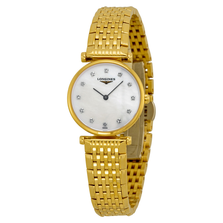 LONGINES MOTHER OF PEARL DIAMOND WTACH
