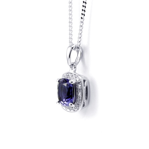 10. This wonderful Iolite and Diamond pendant is delicate and graceful. Showcasing a wonderful, deep blue opaque Iolite stone, encased by a square adorned with diamonds. Held on a delicate chain which has been crafted in smooth 9ct white gold. Whether your Valentine this year is your mother, your sister, your wife or your girlfriend, this gift says 'I Love You' and is perfect for any elegant woman. £285