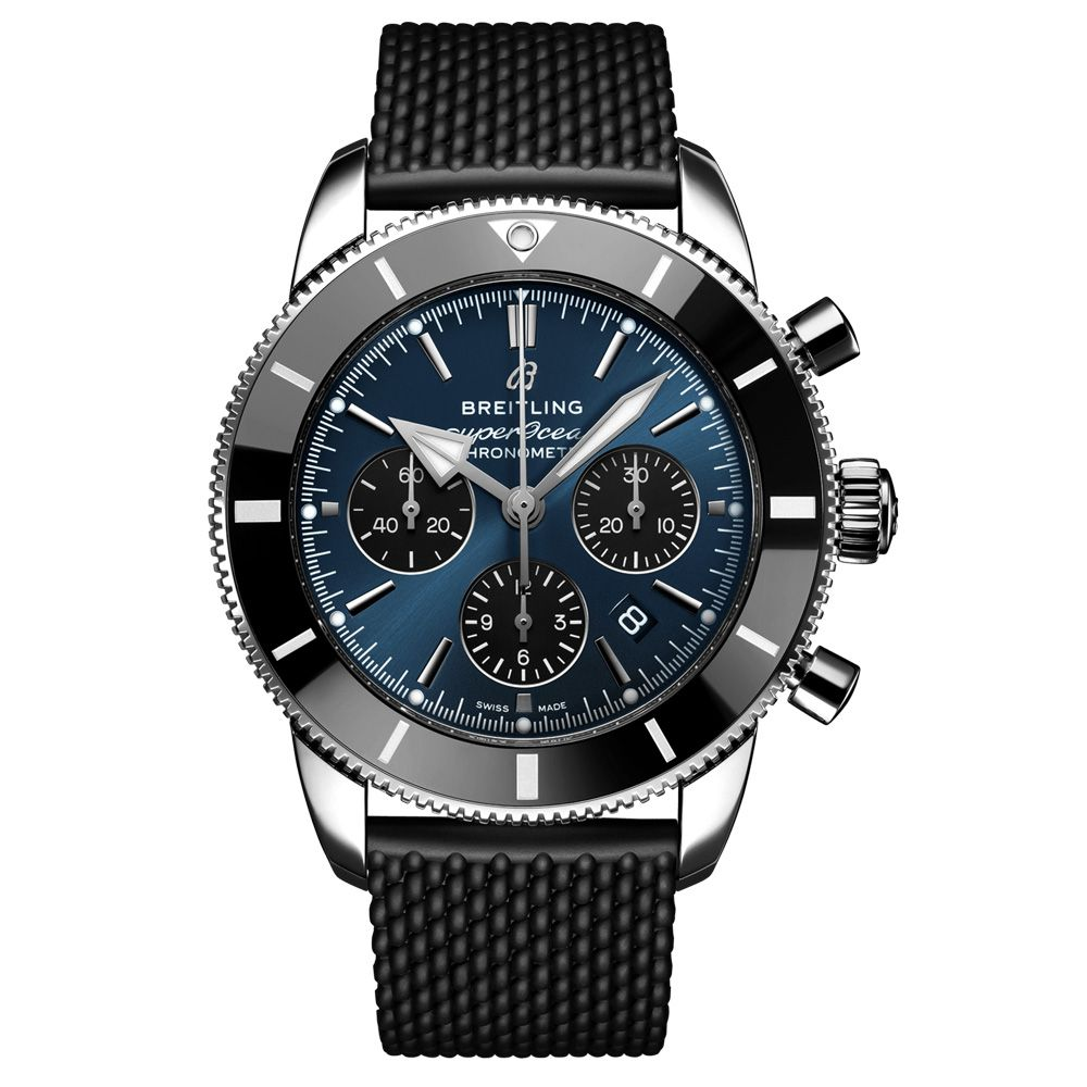 The Breitling Gents Superocean Heritage B01 Chronograph 44mm Blue Dial Automatic Watch