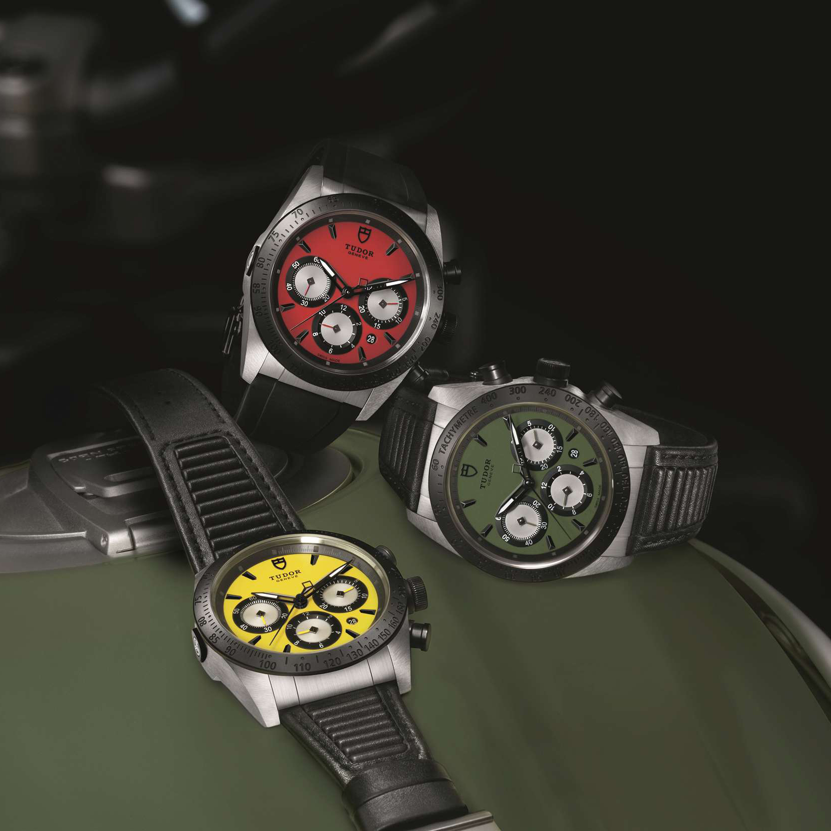 The Tudor Fastrider's displayed in all three colour variations. Which is your favourite?