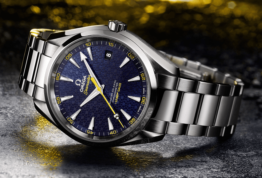 The Omega Seamaster Aqua Terra James Bond Spectre Watch, limited to 15,007 pieces worldwide.