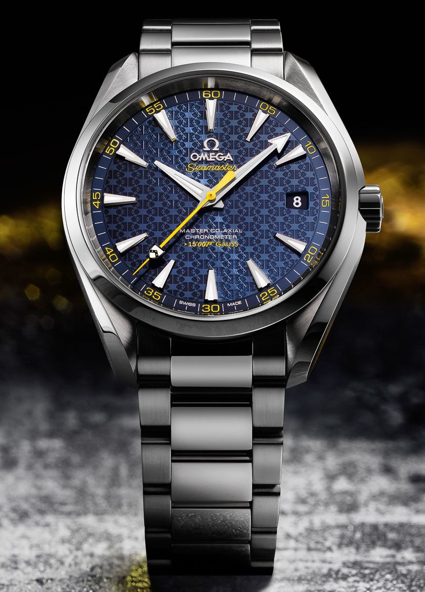 The 'Spectre' Omega Seamaster Aqua Terra James Bond is available on a stainless steel bracelet for £4,630 at Robert Gatward Jewellers.
