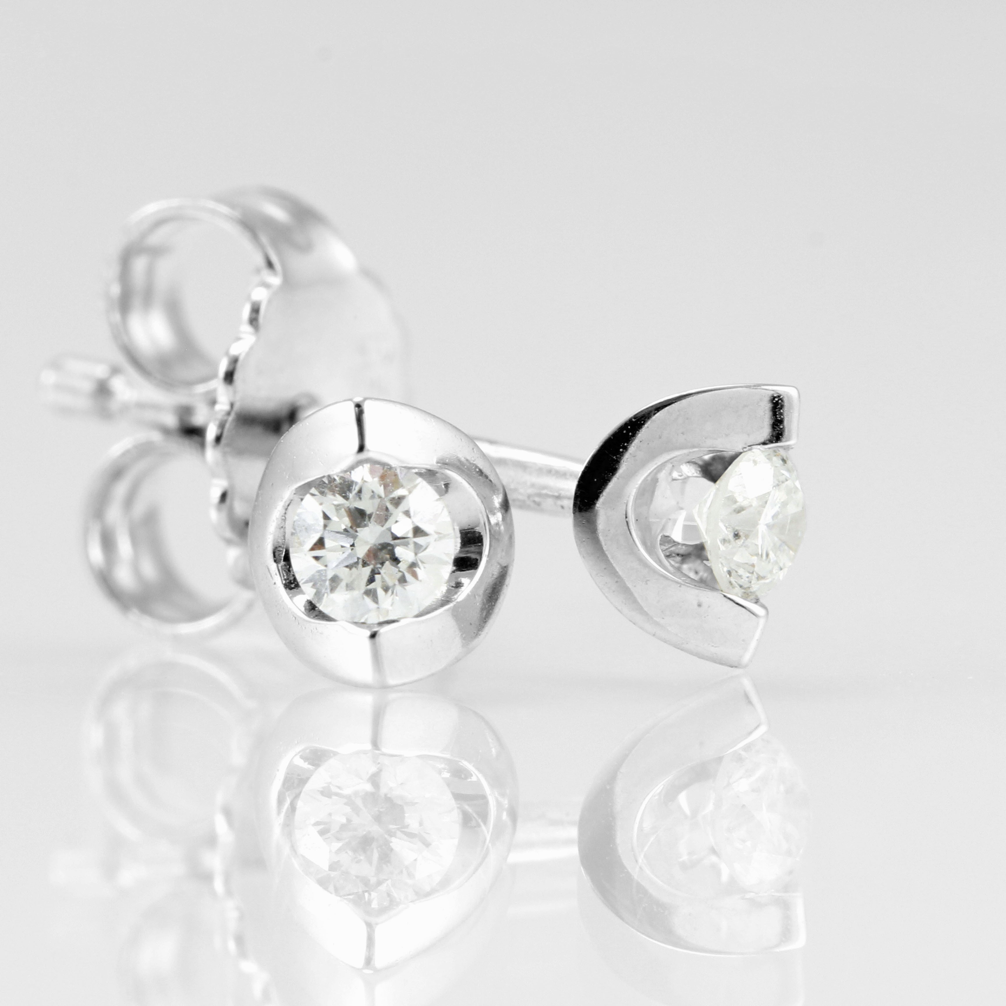 Just because it's Valentine's Day, doesn't mean everything has to be hearts and flowers. But you simply cannot go wrong with these Dazzling Diamond Earrings. With a 0.25ct Diamond total, crafted in smooth 18ct White Gold. Choose these Eclipse Diamond Earrings for your love this Valentine's Day. £450