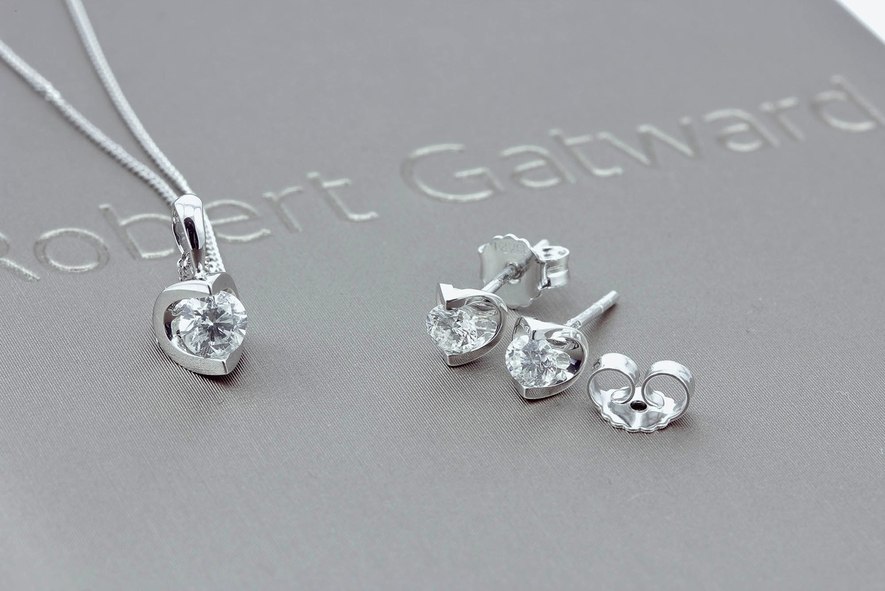 The Eclipse earrings and necklace make a beautiful set as a gift.