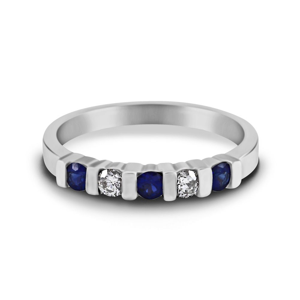 eternity ring with bar setting