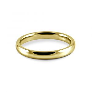 An 18k yellow gold court style wedding band
