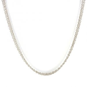 Baccarat Ladies Sterling Silver Double Round Chain 2612910 Main