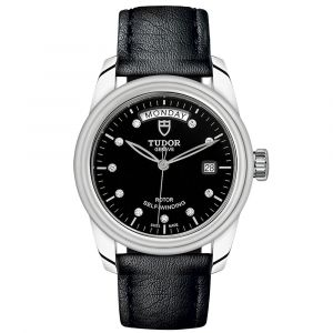 Tudor Glamour Day Date Automatic 39mm Black Dial Stainless Steel & Diamond Watch M56010N-0012