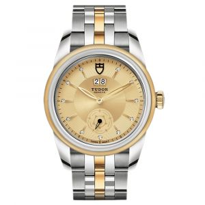 Tudor Glamour Double Date Automatic 42mm Gold Dial Steel and 18ct Gold Mens Diamond Watch M57003-0075