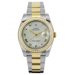 Pre-Owned Rolex Oystersteel and Yellow Gold Datejust 36 Ladies Watch M116243-0026