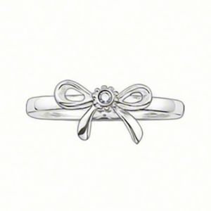 Thomas Sabo Silver and Diamond Bow Ring TR0006-153-14-52 SPECIAL