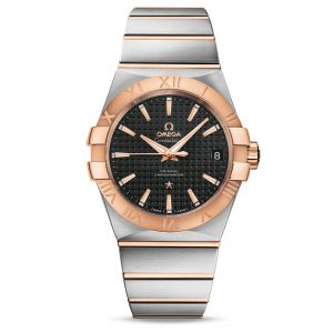 Omega Gents Constellation Steel and 18ct Rose Gold Watch 12320382101001 Main