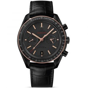 Omega Gents Speedmaster Moonwatch Co-Axial Chronograph Ceramic & 18ct Rose Watch O31163445106001 SPECIAL
