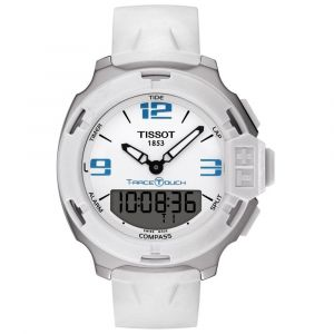 Tissot Gents T-Race Touch Digital White and Blue Digital Dial Watch T0814201701701 SPECIAL