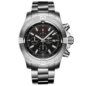 Breitling Gents Super Avenger Chronograph 48mm Black Dial Stainless Steel Automatic Watch A13375101B1A1
