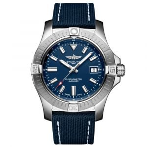 Breitling Avenger 43mm Blue Dial Stainless Steel Automatic Gents Watch A17318101C1X2