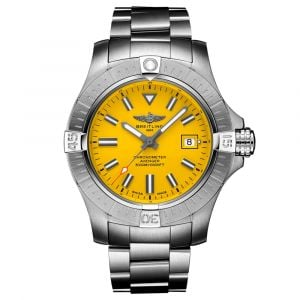 Breitling Gents Avenger Seawolf 45mm Yellow Dial Stainless Steel Automatic Watch A17319101I1A1