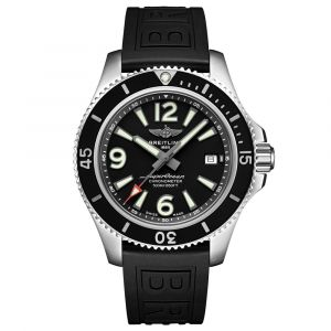 Breitling Superocean 42mm Black Dial Stainless Steel Automatic Gents Watch A17366021B1S2