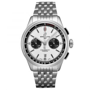 Breitling Gents Premier B01 Chronograph 42mm Stainless Steel Automatic Watch  AB0118221G1A1