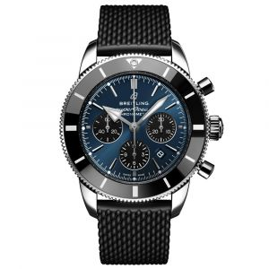 Breitling Gents Superocean Heritage B01 Chronograph 44mm Blue Dial Automatic Watch AB0162121C1S1