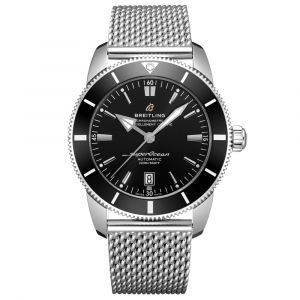 Breitling Superocean Heritage B20 Black Dial 46mm Stainless Steel Automatic Gents Watch AB2020121B1A1