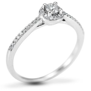 The Buttercup Platinum 0.30ct Diamond Engagement Ring