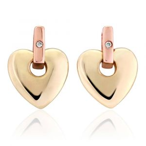 Clogau 9ct Two Colour Gold Cariad Earrings CE01