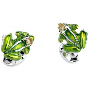 Deakin and Francis Frog with Crown Cufflinks C1555S1310 SPECIAL