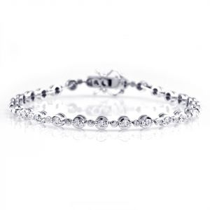 18ct White Gold 1.60ct Round Brilliant Diamond Bracelet HSB0095