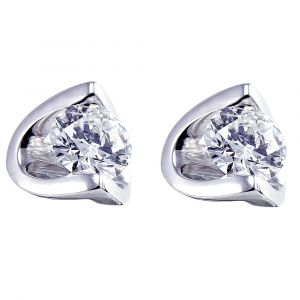 18ct White Gold 0.10ct Diamond Eclipse Stud Earrings