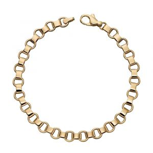 9ct Yellow Gold Large Trace Link Bracelet GB473