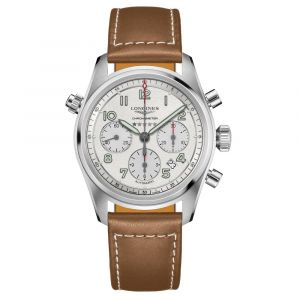 Longines Spirit Chronograph 42mm Silver Dial Stainless Steel Automatic Gents Watch L38204732