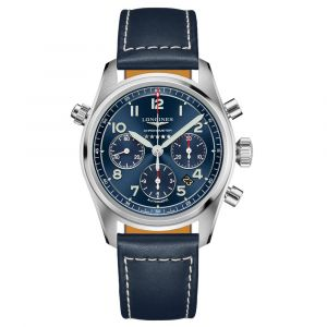 Longines Spirit Chronograph 42mm Blue Dial Stainless Steel Automatic Gents Watch L38204930