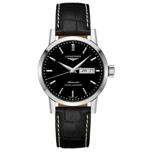 The Longines 1832 40mm Black Dial Stainless Steel Annual Calendar Automatic Gents Watch L48274520