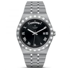 Tudor Royal 41mm Black Dial Day Date Stainless Steel Automatic Gents Watch M28600-0003
