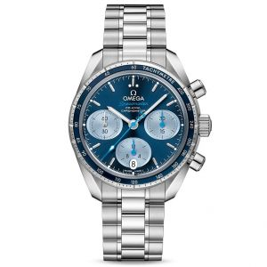 Omega Ladies Speedmaster Co-Axial Chronograph 38mm Stainless Steel Watch O32430385003002