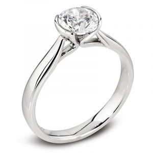 The Dahlia Platinum Round Brilliant Diamond Engagement Ring