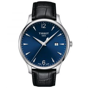 Tissot T-Classic Tradition 42mm Blue Dial Stainless Steel Gents Watch T0636101604700