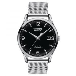 Tissot Gents Heritage Visodate 40mm Stainless Steel Black Dial Watch T1184101105700 SPECIAL