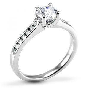 The Waterlily Platinum Brilliant Diamond Engagement Ring