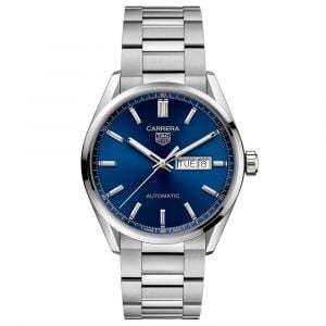 TAG Heuer Carrera Calibre 5 Day Date 41mm Blue Dial Stainless Steel Automatic Gents Watch WBN2012.BA0640
