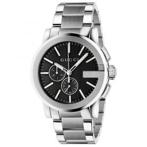 Gucci Gents G-Chrono Black Dial Stainless Steel Watch YA101204 SPECIAL
