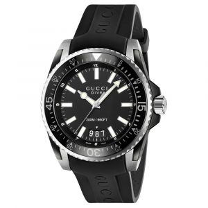 Gucci Dive Gents Rubber Strap Watch YA136204A