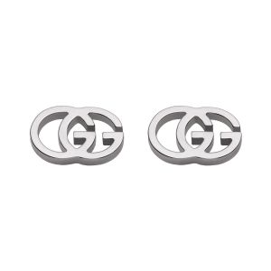 Gucci 18ct White Gold Stud Earrings YBD09407400100U SPECIAL