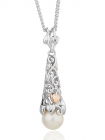 Clogau Silver and 9ct Rose Gold Tree of Life Pearl Pendant 3STOLPP4