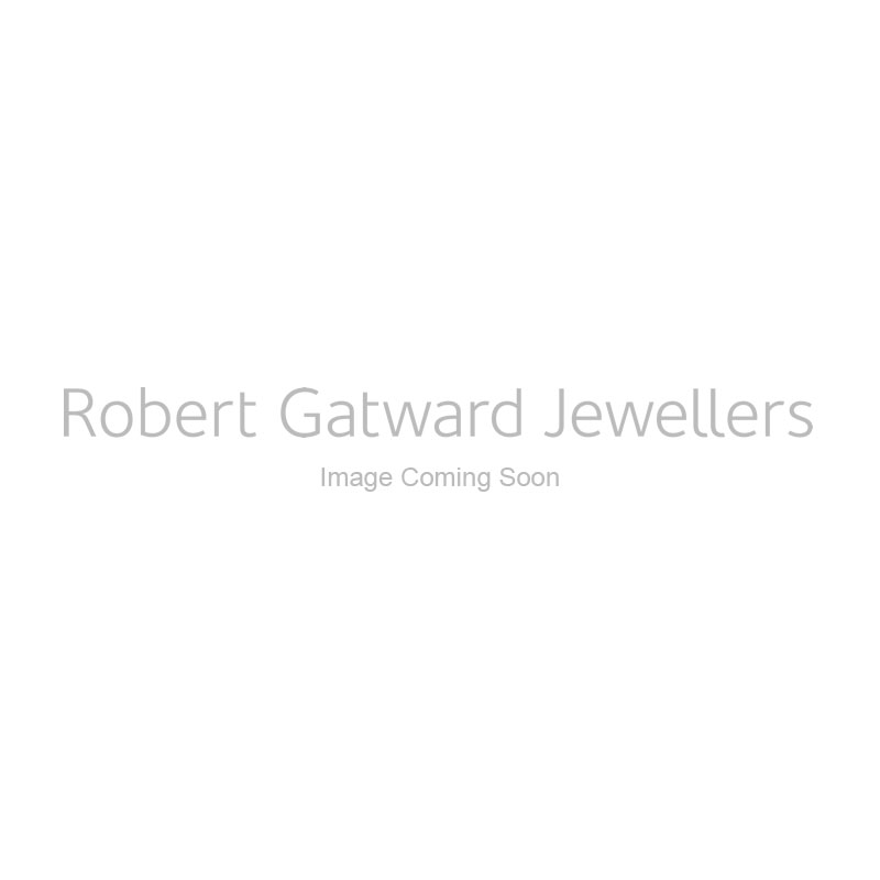 18ct White Gold 0.40ct Rectangle Cut Sapphire and 0.15ct Diamond Necklace
