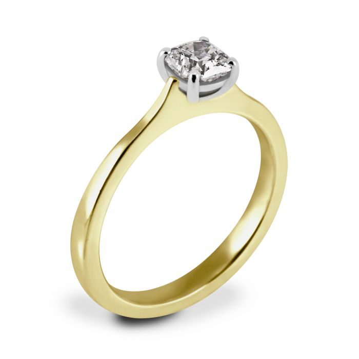 Hearts On Fire Yellow Gold 0.51ct Diamond Engagement Ring SPECIAL